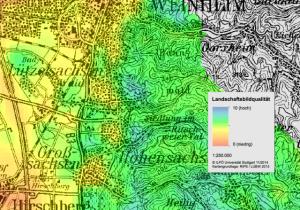 ILPO Studie Landschaftsbild - Ausschnitt FB4 Weinheim Geiersberg