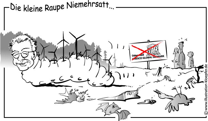 Raupe Niemehrsatt